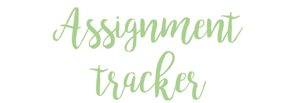 assignment tracker